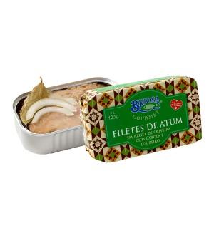 Filetes de Atum em Azeite de Oliveira com Cebola e Loureiro